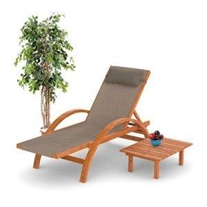 Sonnenliege aus Holz